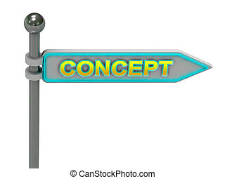 "rendre, 3d, ""concept"", or, signe"