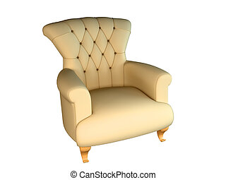 rendre, 3d, fauteuil