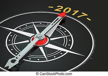 rendre, compas, année, conceptuel, 2017, 3d