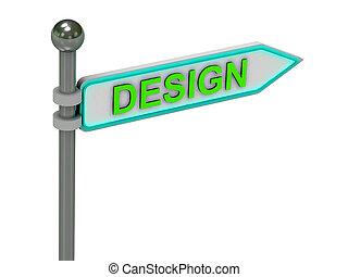 """rendre, """"design"""", 3d, or, signe"""