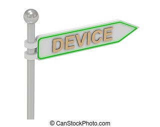 """rendre, """"device"""", 3d, or, signe"""