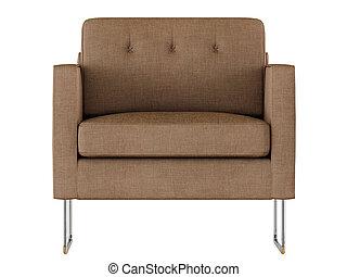 rendre, fauteuil, 3d, tissu