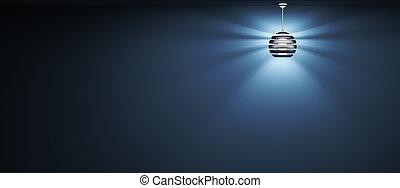 rendre, lampe, fond, 3d