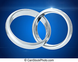 rendre, mariage, rings., 3d