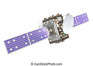 rendre, satellite, 3d