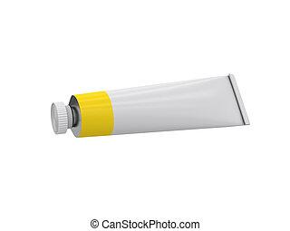 rendre, tube, fond, blanc, 3d