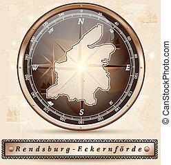 rendsburg-eckernfoerde, karta