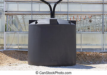 rendszer, gyűjtés, rainwater