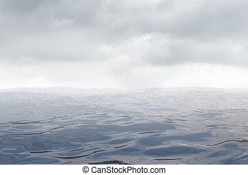 rendu, résumé, illustration, arrière-plan., ocean., 3d