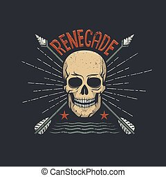 Renegade skull with arrows