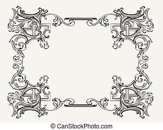 renesance, konstrukce, originální, ozdobený
