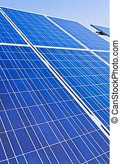 alternative solar energy. solar energy power plant.
