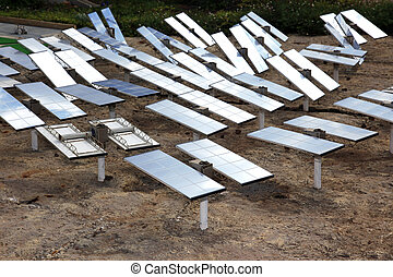 Renewable, alternative solar energy, sun-power plant