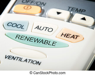 Renewable button as an option on the air conditioner remote...