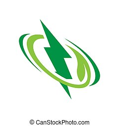 renewable eco green energy logo vector illustrations