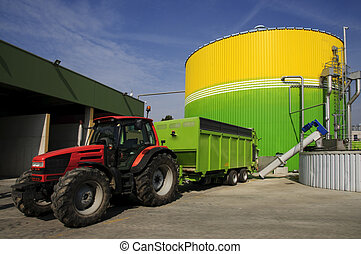 Biogas energetic valorization. Biogas is produced through an anaerobic fermentation process of biomasses which can be conveyed in special modules and employed as combustible to product two energetic vectors: electrical energy which can be self-consumed or rendered to the net.