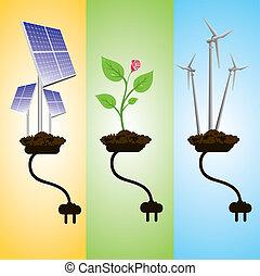 renewable energy concept stock vector