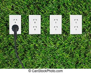 Renewable Energy - Conceptual renewable images isolated...