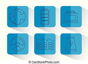 renewable energy design - icon set of renewable energy...