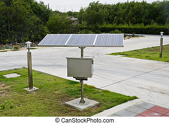 Renewable energy of solar cell for green concept