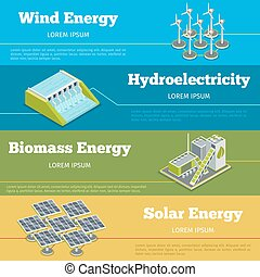 Renewable energy or eco infographics concept