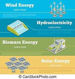 Renewable energy or eco infographics concept