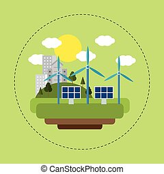 renewable energy solar wind city