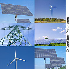 Renewable Energy - Solar and wind power station in Germany...