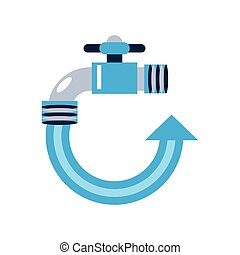 renewable energy water resource white background