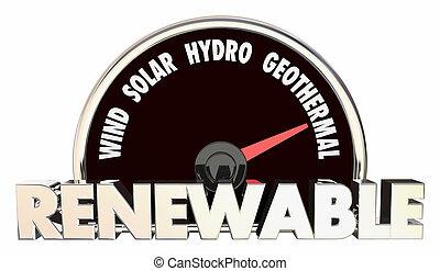 Renewable Energy Wind Solar Biothermal Hydro Power...