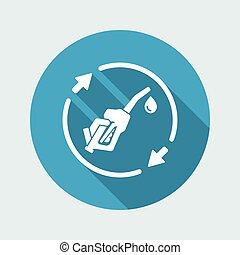 Renewable fuel flat icon