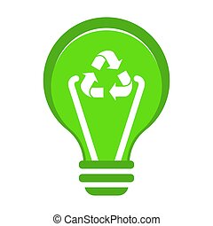 Renewable green energy concept. Flat vector cartoon illustration