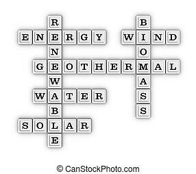 Renewable Green Energy crossword puzzle.