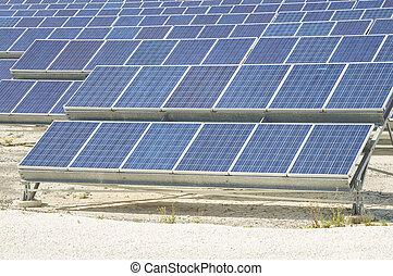 Solar Power Station: Multitude of Solar Panels