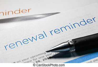 renewal reminder letter - renewal reminder business letter...