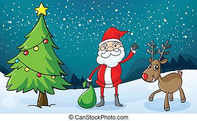 renne, claus, santa