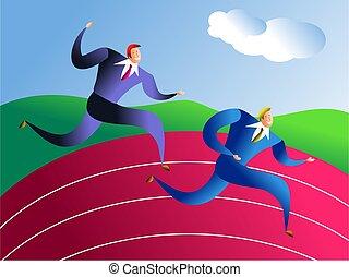 rennen, geschaeftswelt