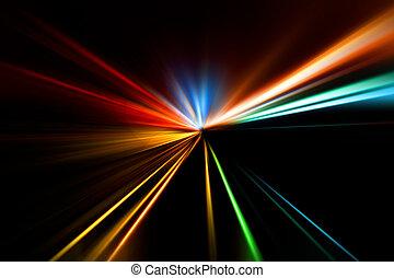 rennen, schnell, landstraße, nacht