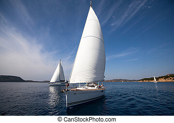 rennen, yacht, segeln