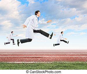 rennende , artsen