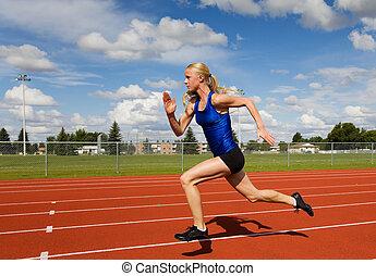 rennende , atleet