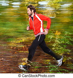 rennende , bos