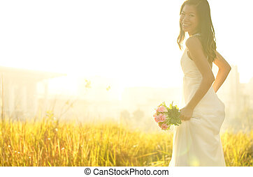 rennende , bruid