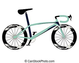 rennende fiets, pictogram