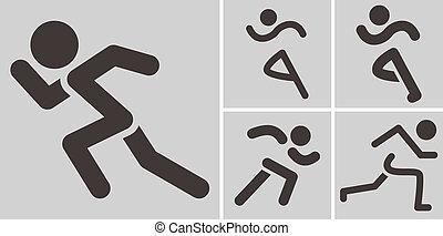 rennende , iconen