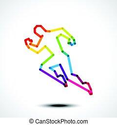 rennende , man, pictogram