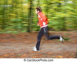 rennende , man