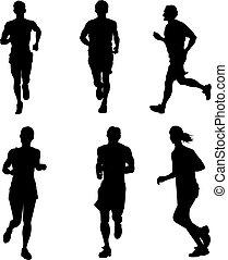 rennende , mensen