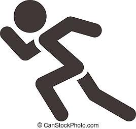 rennende , pictogram