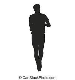 rennende , silhouette, man
